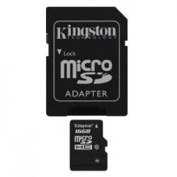 MEMORIA MICRO SD 16GB KINGSTON 1ADAP CLASE 10 - Imagen 1