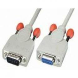 CABLE SERIE NULL MODEM DB9M-DB9H 2M - Imagen 1
