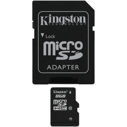 MEMORIA MICRO SD 8GB KINGSTON 1ADAP CLASE 10 - Imagen 1