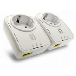 ADAPTADOR RED LEVEL ONE PLC 500MBPS PASSTHROU KIT2 - Imagen 1