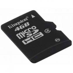 MEMORIA MICRO SD 4GB HC KINGSTON 1 ADAP - Imagen 1