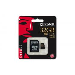 MEMORIA MICRO SD 32GB KINGSTON 1ADAP CL.10 UHS-1 - Imagen 1
