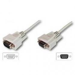 CABLE SERIE NULL MODEM DB9M-DB9H 5M - Imagen 1