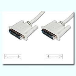 CABLE SERIE NULL MODEM DB25M-DB25M 5M - Imagen 1
