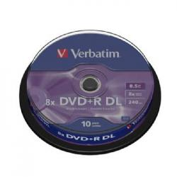 DVD+R VERBATIM DOUBLE LAYER 8X 8.5GB TARRINA 10 - Imagen 1