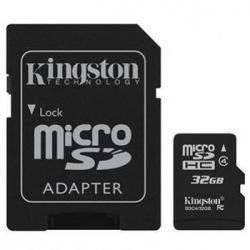 MEMORIA MICRO SD 32GB KINGSTON 1ADAP CLASE 10 - Imagen 1